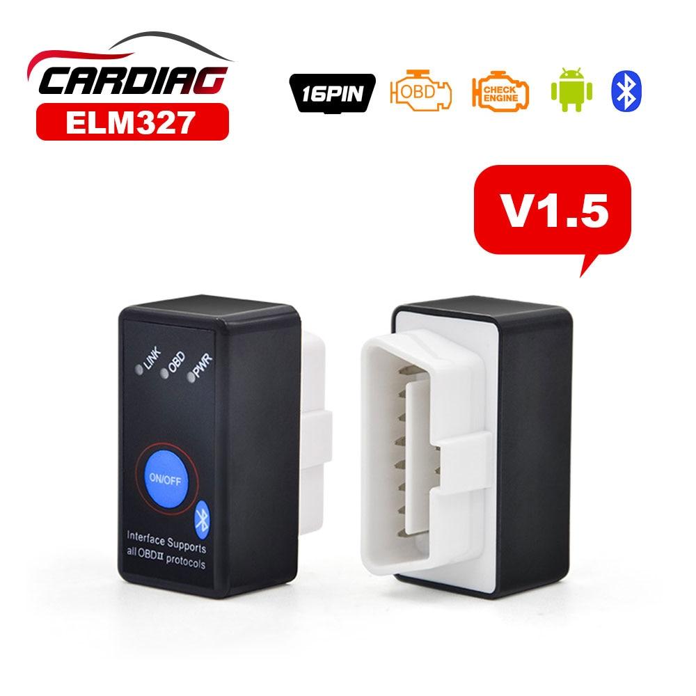 Prix pour Super Mini Haute Qualité ELM327 Avec Interrupteur ELM 327 Bluetooth V1.5 Version avec le Commutateur Électrique Fonctionne sur Android Symbian de Windows