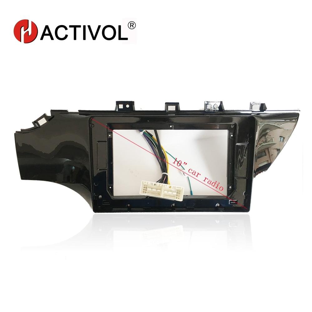 HACTIVOL 2 Din Car Radio face plate Frame for KIA K2 Rio 2017 Car DVD GPS