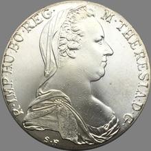 Austria 1780 S.F. Maria Teresa Brass Silver Plated Copy Coin High Quality