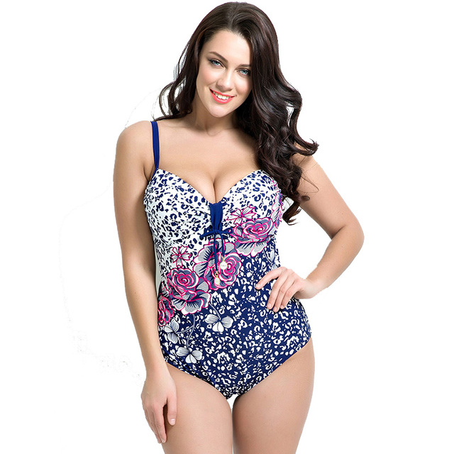 66d8c51679 New Plus Size Swimwear Women One Piece Swimsuit Girl Summer Sexy Bathing  Suit Print Push Up