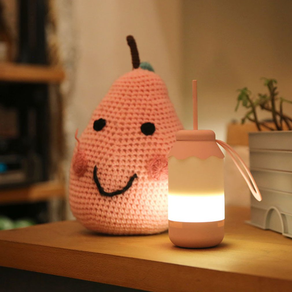 Creative Switch Portable Led Baby Milk Bottle Light Night Home Bedroom Decoration Atmosphere USB Rechargeable Lights