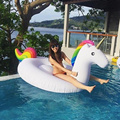 InflataWhite New Summer Lake Swimming Water Lounge Pool Kid Giant Rideable  Unicorn Inflatable Float Security Toy Good Quality