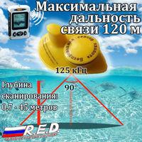 FFW718 RU Wireless Fish Finder Tiếng Nga Miễn Phí Vận Trên Toàn Thế Giới May Mắn 45 M Sonar Depth