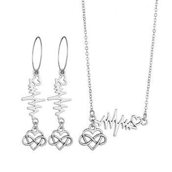 New 3PCS Women Trendy Earrings&Necklace Sets Bowknot Butterfly Rhinestone Female Jewelry 4