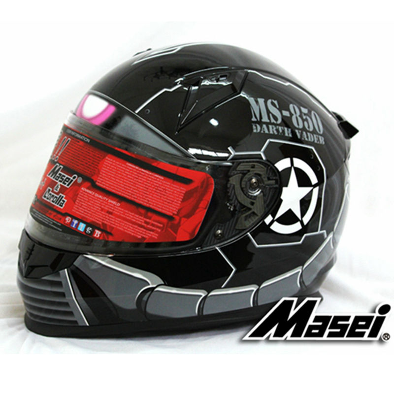 �masei 850 black zaku �� full full face helmet motorcycle