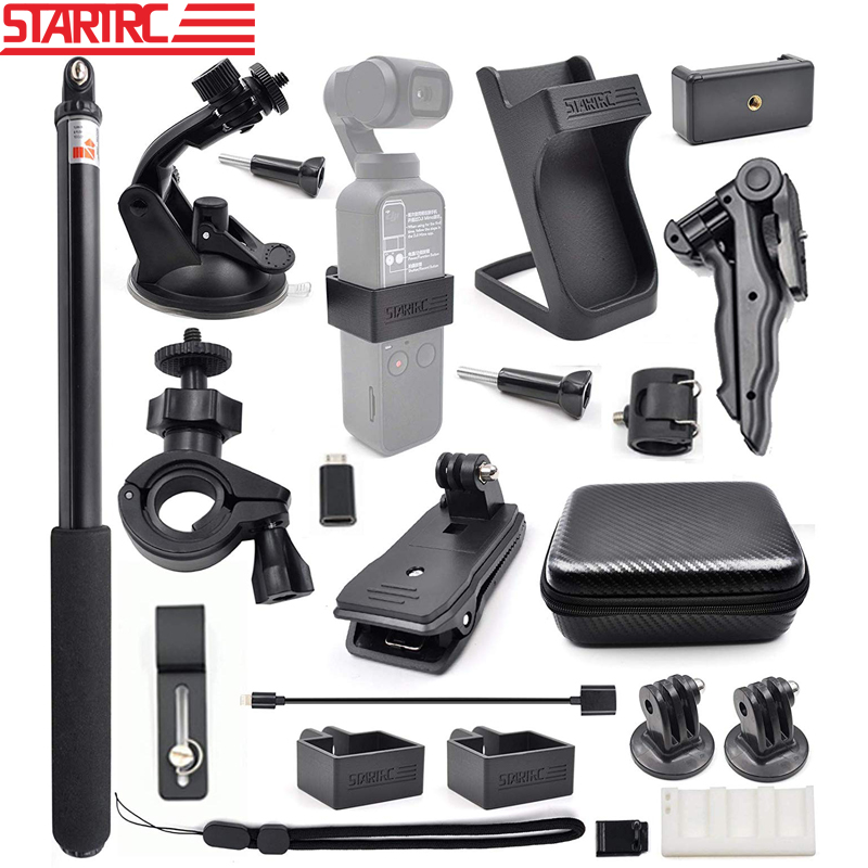 STARTRC Gimbal Camera OSMO Pocket Expansion Accessories Kit 21 In 1 Handheld Action Camera Mounts Parts