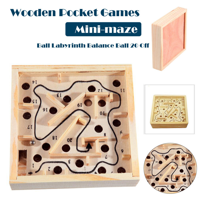 Wooden Math Block Toy Maze Beads Board Kids Balance And Hands Grasp Toy  Juguetes Montes Wooden Toys For Baby Kids  QA