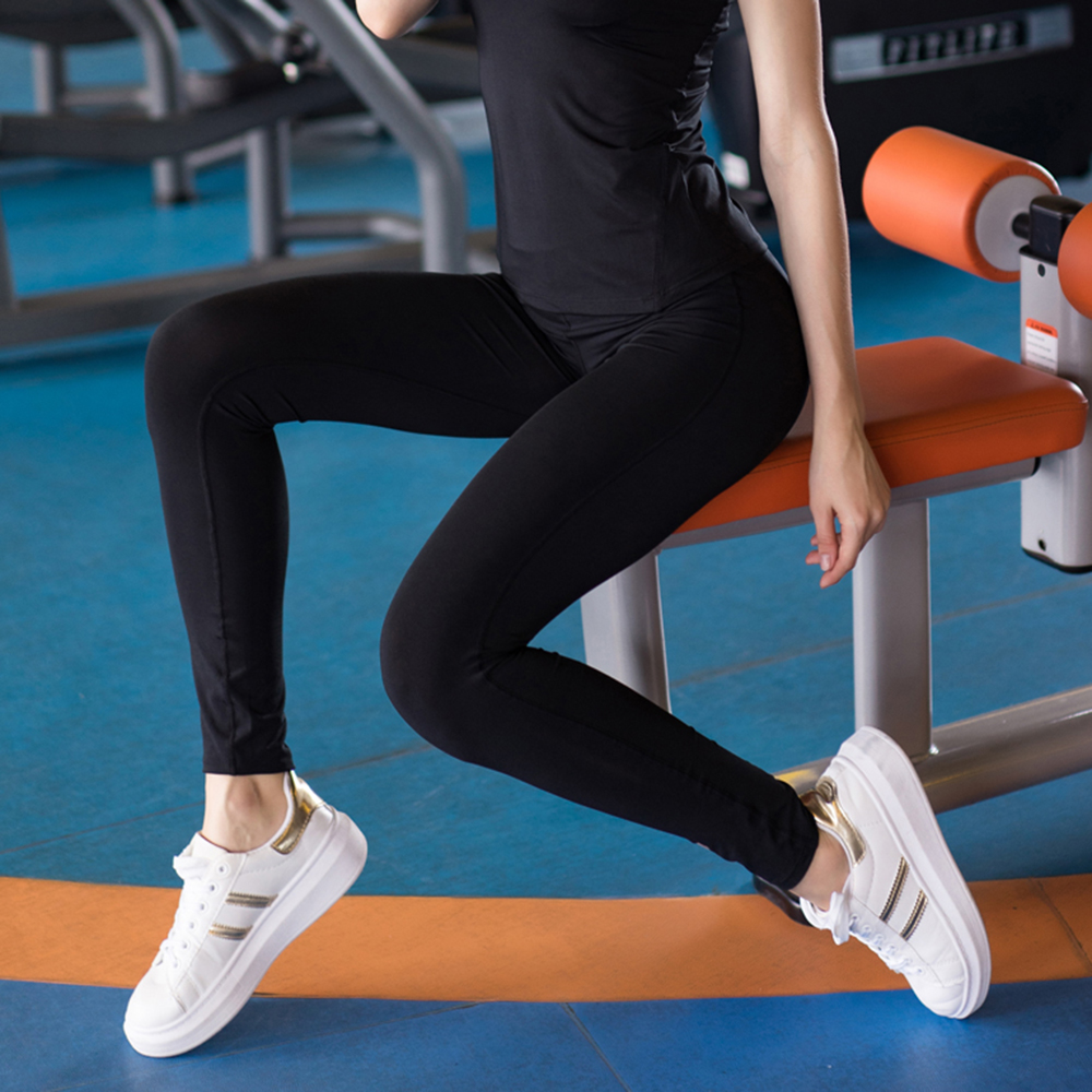 Sexy High Waist yoga leggings For Women yoga workout gym fitness leggings pants jumpsuit Stretched Running Tight Sports trousers 2