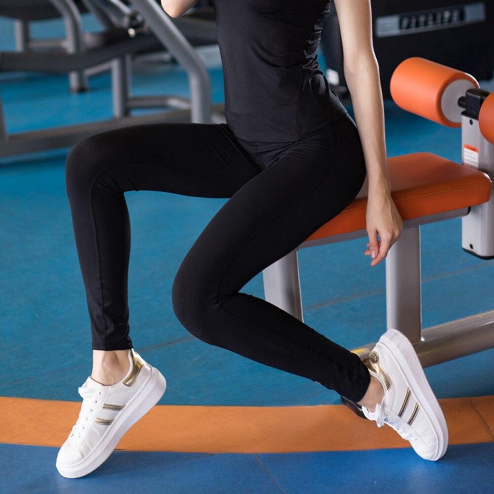 Sexy polainas Para Las Mujeres de Cintura Alta de yoga yoga workout gym  fitness leggings pantalones mono Estirada Running Tight pantalones  Deportivos en ... 572bb97676e3