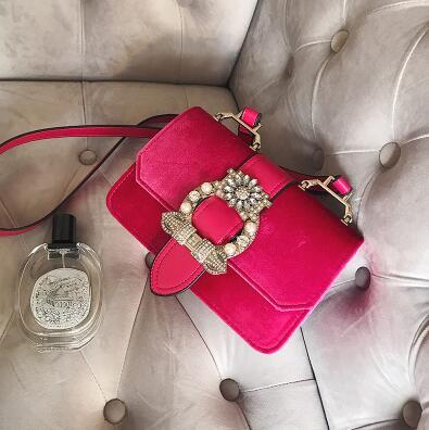 Fashion Designer Famous Bags For Women Designer Diamond Lock Bags Luxury Velvet Women Tote Bag High Quality Women's Handbags by Remiel