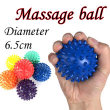 1 Pc 6.5cm Massage Ball Roller Reflexology Stress Relief For Body Yoga Massage Balls PVC easy to use pocket masseur #30(China)