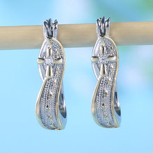 2019 Creative Footprints Frosted Cross Earrings for Women Fashion AAA Cubic Zirconia Necklace Two-tone Plated Statement Jewelry