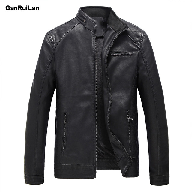 2018 New Men Leather Jacket Spring Autumn Fashion High Quality PU Casual Biker Jacket Male Outerwear & Coats M-5XL JK18009