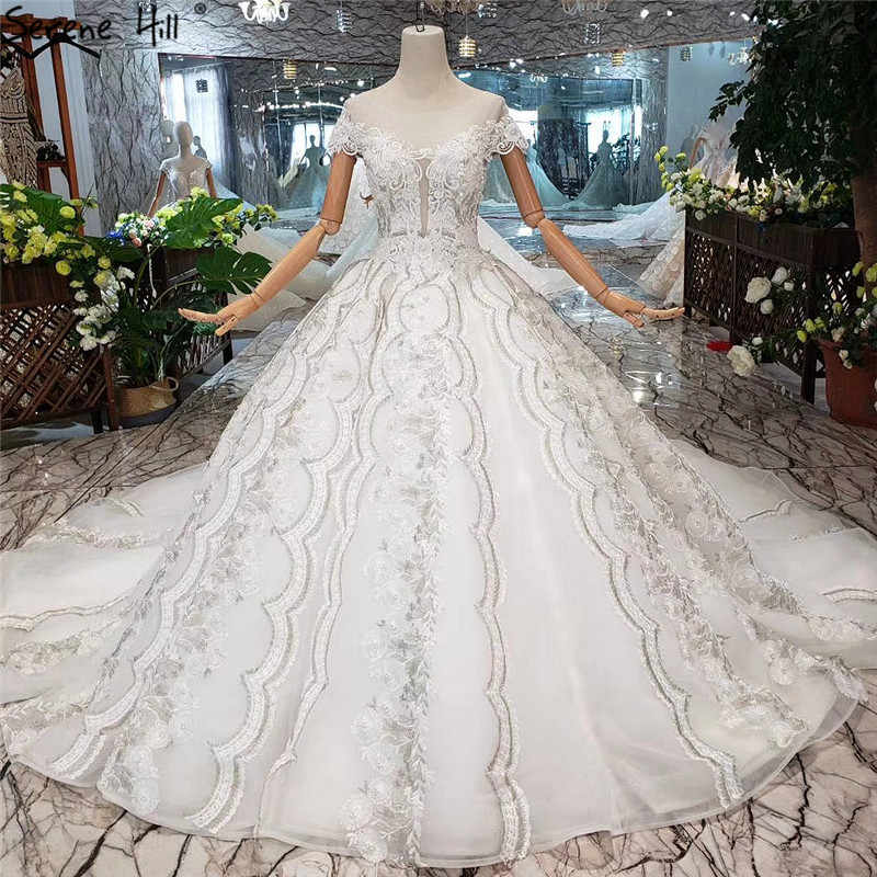 White O-Neck Handmade Flowers Wedding Dresses 2019 Vintage Luxury Sleeveless Sexy Wedding Gowns Real Photo Custom Made