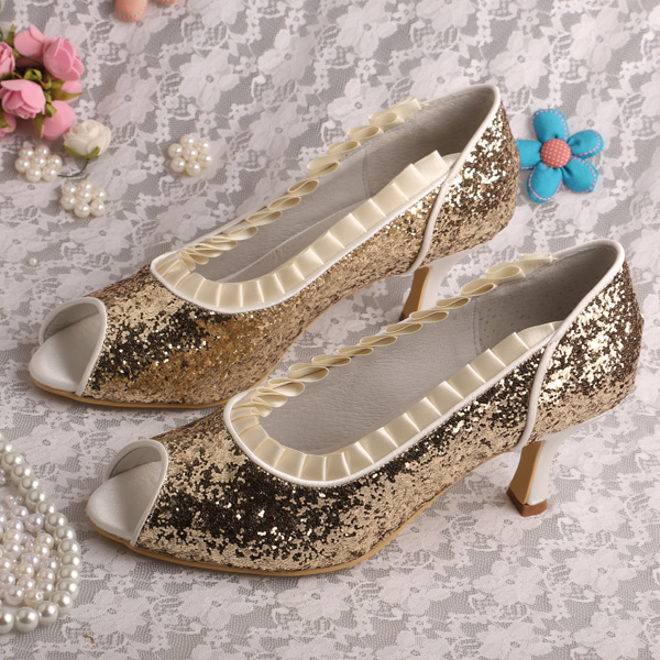 Compare Prices on Gold Shoes Mid Heel- Online Shopping/Buy Low ...