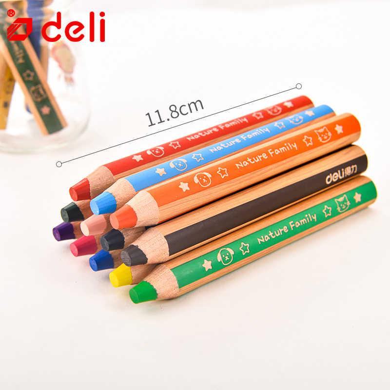 מעדנייה 6/12pcs צבע עיפרון עבה מוט תלמיד ציור עיפרון סט ילדי מכתבים עפרון עפרונות בית ספר משרד אמנות ספקי