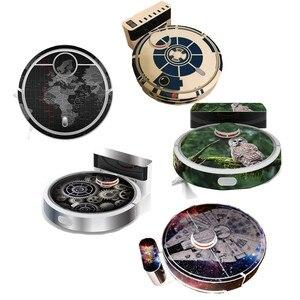 Image 1 - 1 * かわいいフクロウパンダスタイルステッカーxiaomi mi 1 SDJQR02RRロボット掃除機美化保護フィルム部品アクセサリー