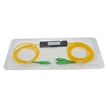 SCAPC 1X2 оптоволоконный FTTH разветвитель оптический FBT муфта 1x2 SCAPC Singlemode simplex plc оптический сплиттер Бесплатная доставка