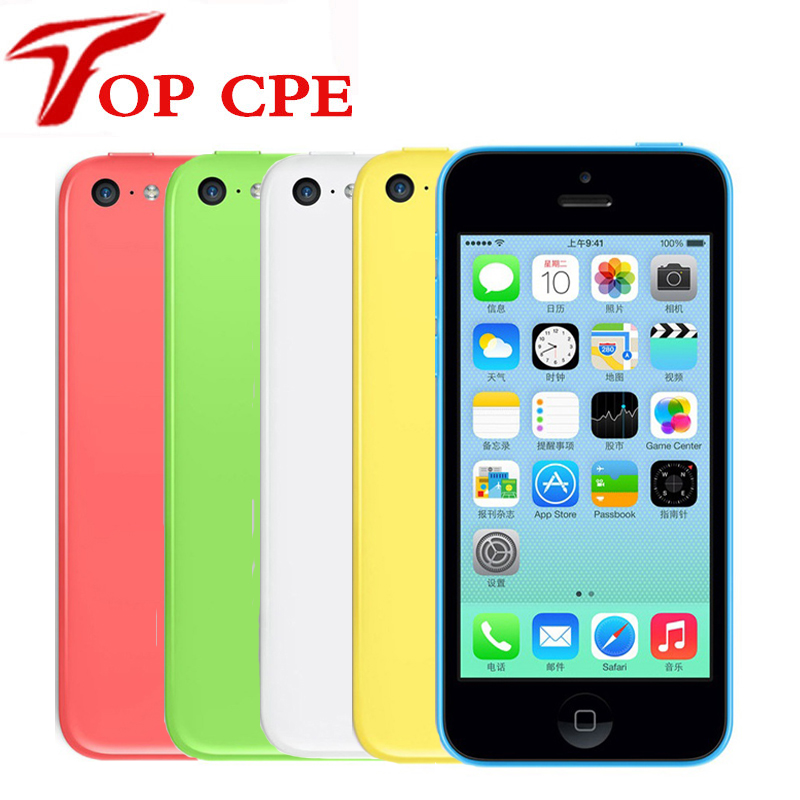 Original iPhone 5C 16GB 32GB 8GB Factory Unlocked 3G dual core WCDMA WiFi GPS 8MP Camera