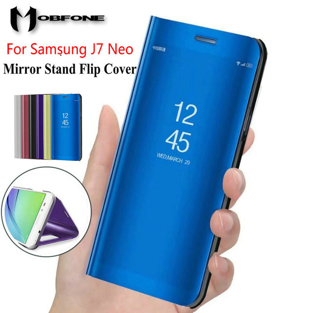 the best attitude fc6b5 f2aba US $7.19 |For Samsung Galaxy J7 Nxt J701F Mirror Flip Stand Smart Luxury  Plastic Leather Case For Samsung J7 Neo J701M 360 Full Cover Bag-in Flip ...