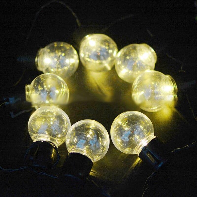 3.5 M 10 LED Chaîne Lumière Solaire Alimenté Étanche Balle Guirlande Vintage Chaîne Ampoule Claire Pour Célébration de Vacances Lampe Décor