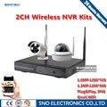 SNO Качество 2CH Системы ВИДЕОНАБЛЮДЕНИЯ HDMI NVR 2 ШТ. 1,3-МЕГАПИКСЕЛЬНОЙ 1.0MP ИК Открытый P2P Беспроводная IP CCTV Камеры Безопасности Системы Видеонаблюдения комплект