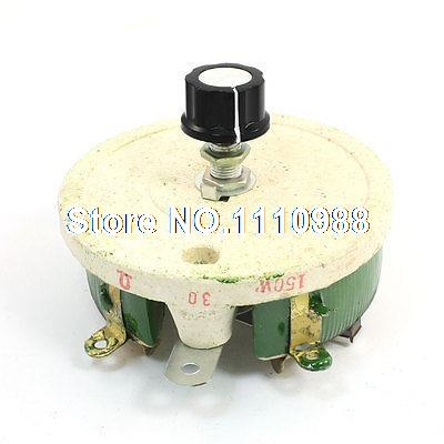Top Rotary Single Turn Resistor 150W 30 Ohm Ceramic Pot Disk Rheostat variable resistor wire wound rheostat 50w 20 ohm 20ohm