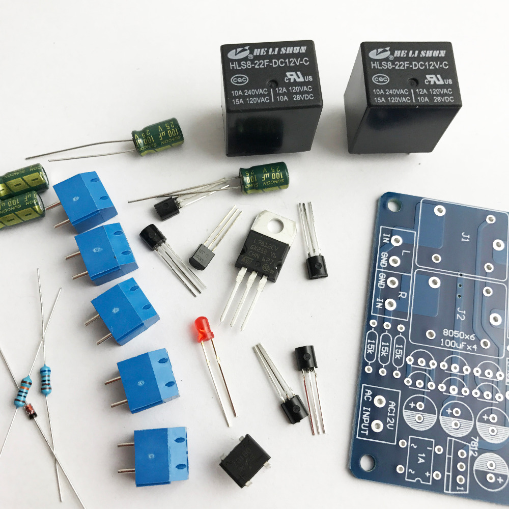 Speaker protection board DIY kit With double relay power amplifier board boot delay and DC protection