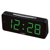 LED Big Numbers Electronic Desktop Clock Digital LED Alarm Clock AC Power Table Clocks With 1