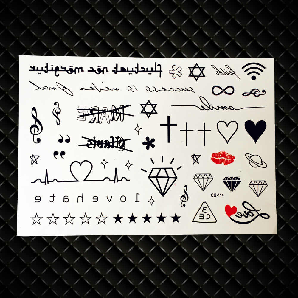 10pcs Lot Temporary Tattoo Stickers For Children Kids School Waterproof Tattoo Little Bauble Design Tattoo Alphabet Letter Temporary Tattoos Aliexpress The runic alphabet is made up of angular letters. 10pcs lot temporary tattoo stickers for