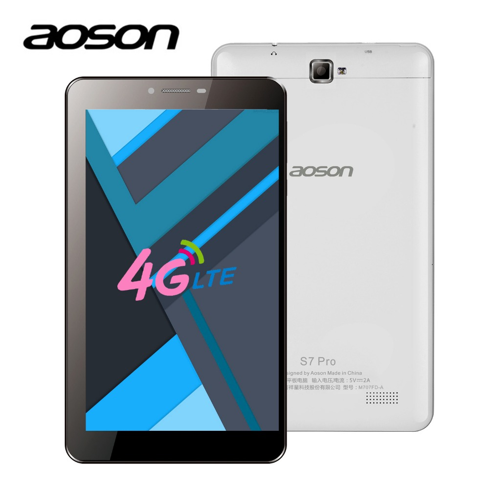 SIM CARD Aoson S7 PRO 7 inch 3G 4G Smart Phone Tablets Android 6.0 IPS 1024*600 Quad Core 1GB RAM 8GB ROM 5MP camera OTG GPS