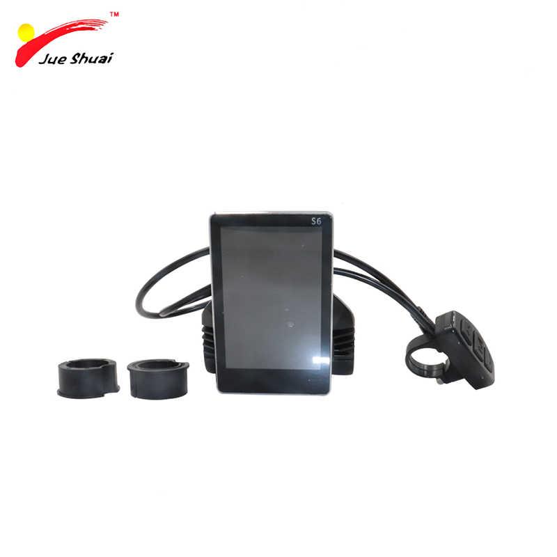 送料無料電動自転車液晶ディスプレイフルカラー 24/36/48 ボルトインテリジェント液晶利用可能な電動自転車用バイク部品制御