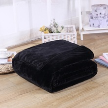 Супер мягкий однотонный черный цвет коралловое Флисовое одеяло Теплый диван-крышка Twin queen Размер пушистый фланелевый норковый плед плоское одеяло s