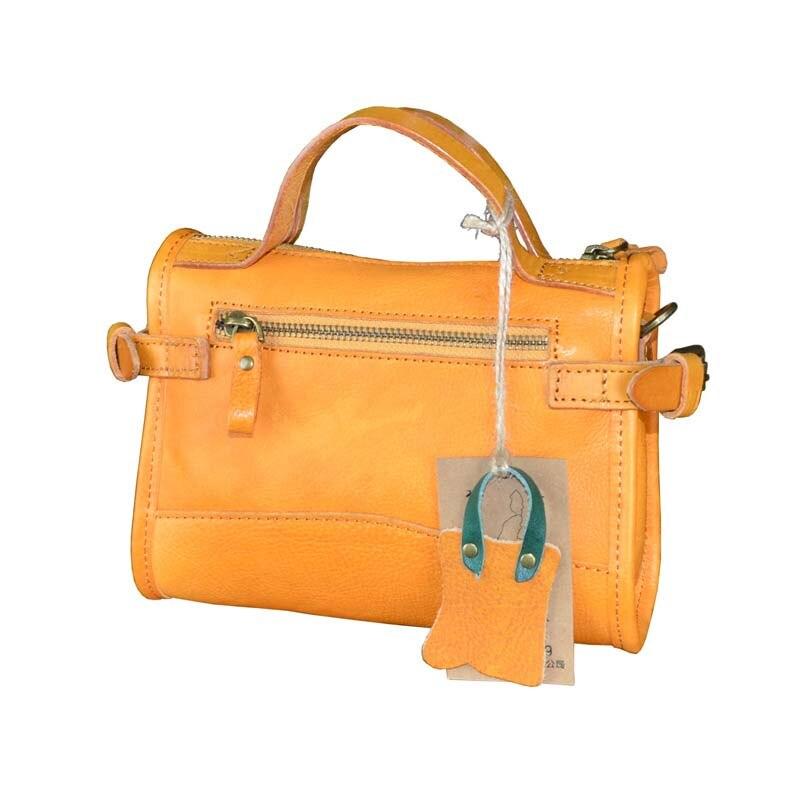 AETOO Original bolso de mujer de cuero curtido vegetal retro bolsa de crema de árbol bolsa de mensajero portátil hecha a mano - 5