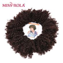 Synthetic-Hair-Extensions Hair-Bundles Curly Kanekalon-Fiber Miss-Rola Sew-In 100g 6pcs/Lot