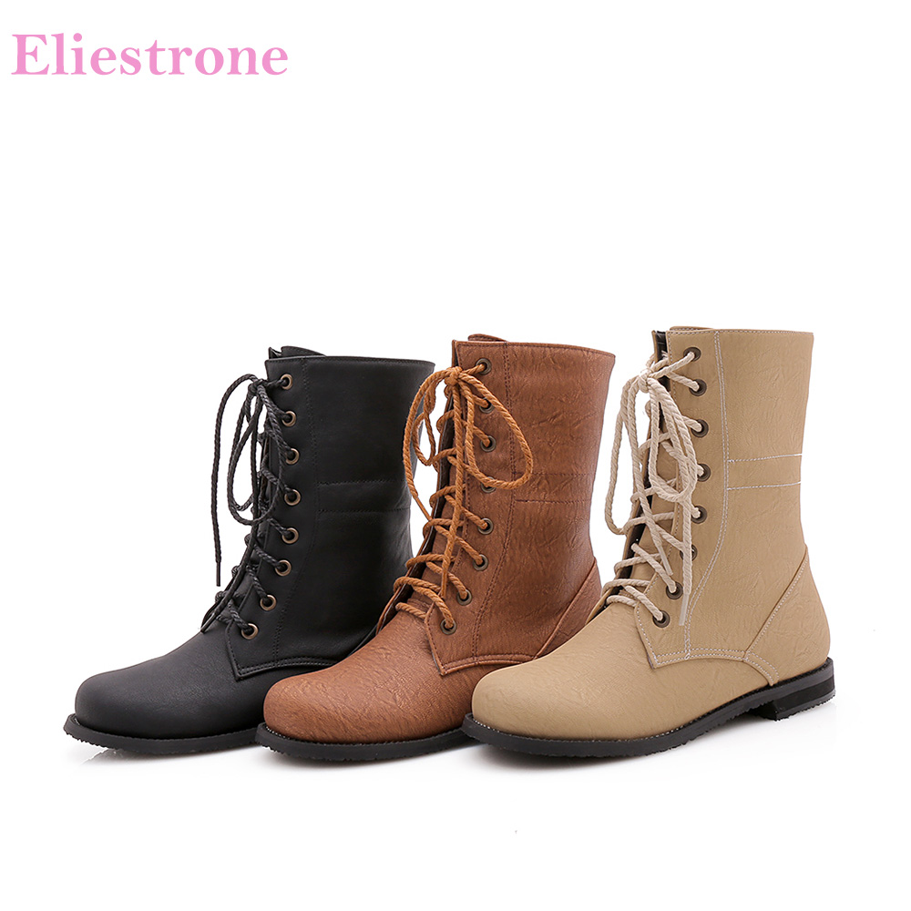 Shoes Riding-Boots Chunky-Heels Western Brown Winter Big-Size Women Brand-New Hot 12
