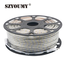 SZYOUMY 220V LED Strip 2835 60Leds/M IP67 Waterproof With EU Power Plug Tape Light String Ribbon Brighter Than 3528 5630