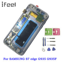 5.5'' SUPER AMOLED LCD with Frame for SAMSUNG Galaxy S7 edge G935 G935F LCD Display + Touch Screen Digitizer Assembly