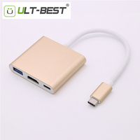 USB 3 1 Type C To HDMI Female Converter With USB 3 0 F USB C