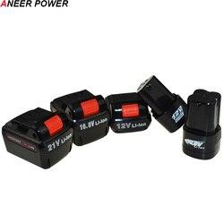25 v 21 v 16.8 v 12 v bateria de lítio li-ion ferramentas elétricas broca recarregável para a bateria sem fio chave de fenda furadeira elétrica