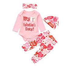 d49174137 SZYADEOU Newborn Infant Romper Baby Clothes Set Boy Girl Letter Tops Pants  Hat Set Baby Valentine