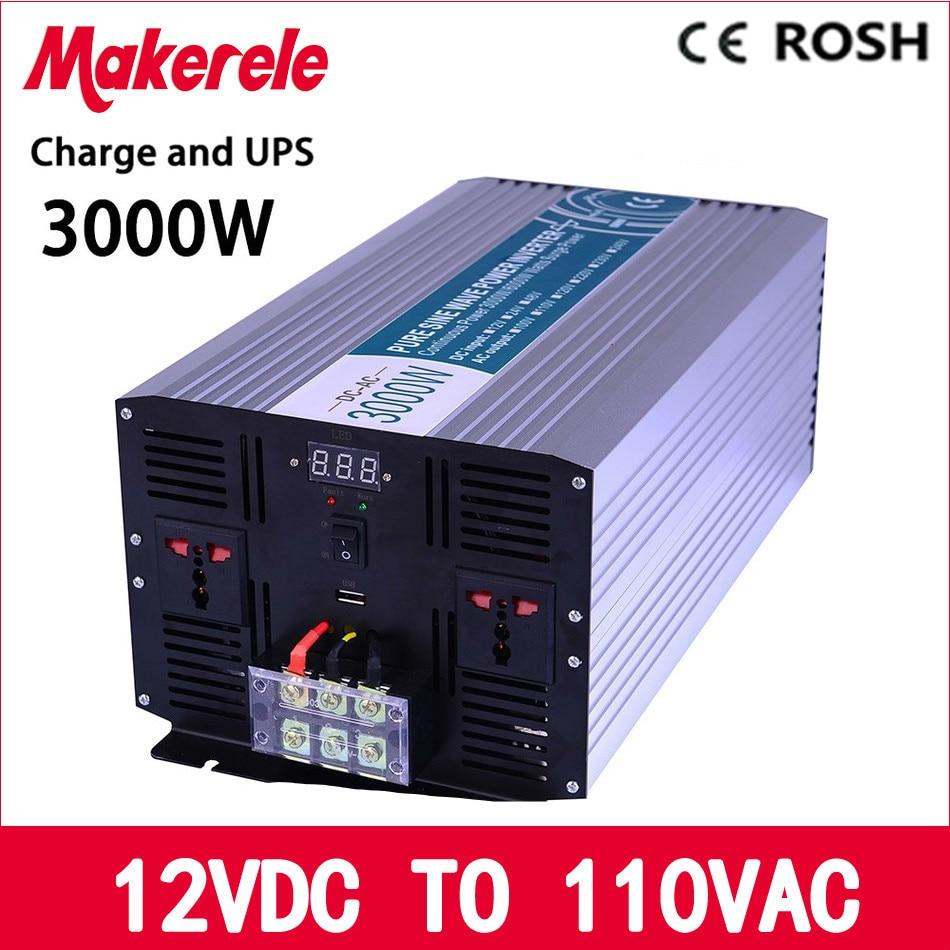 MKP3000-121-C solar inverter 3000w 12v dc to 110v ac UPS inverter off grid Pure Sine Wave inversor with charger and UPS сумка rebecca minkoff hs16efrx25 001