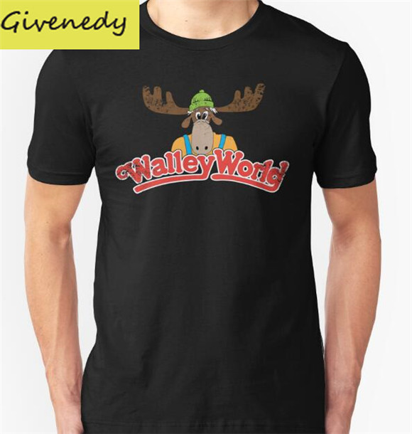 Free Shipping Walley World Vintage Printed 2016 New Summer Design Short sleeve O Neck T font