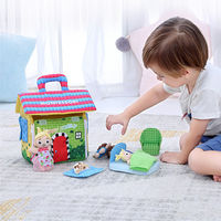 Kids Baby Play House Toys Set Early Development Learning Education Soft Cloth Activity Montessori Toys Birthday Gift For Child