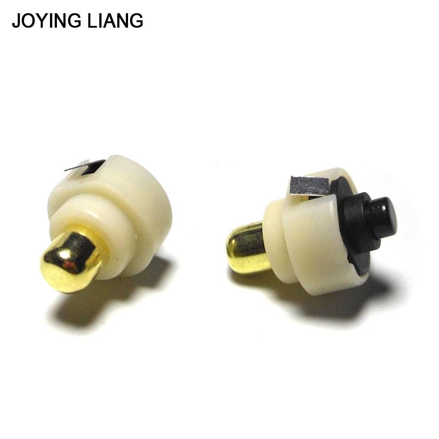 JOYING LIANG 2PCS 17mm Diameter LED Flashlight Push Button Switch ON/ OFF Electric Torch Tail Switch