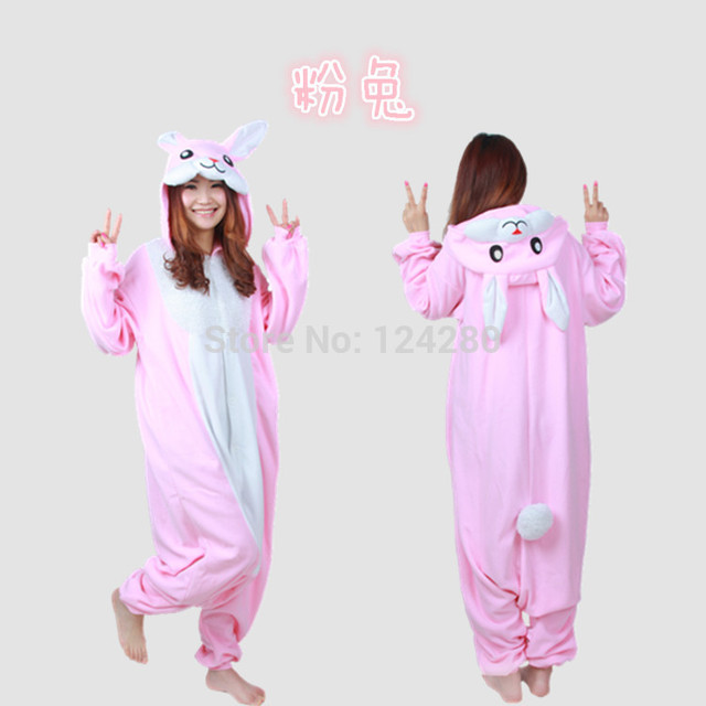 513013671234 New Japan Sweet Girls Rabbit Onesies Jumpsuit Adult Bunny Animal Cosplay  Pajama Pyjama Women Men Party Halloween Cosplay Costume