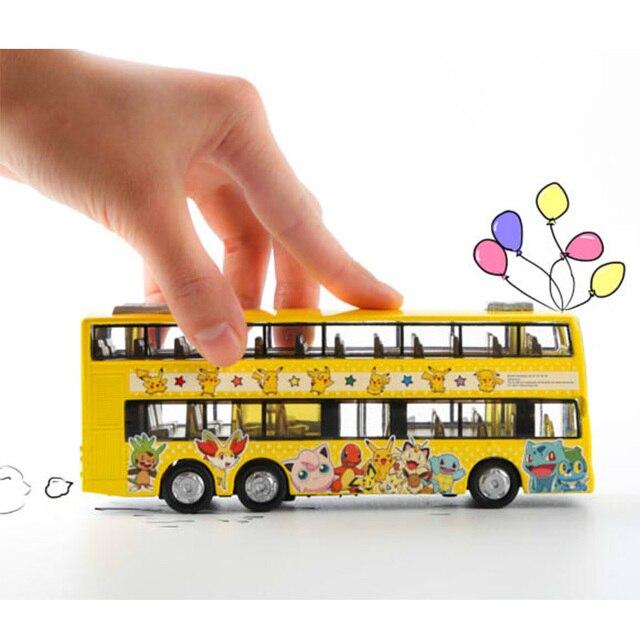 Pokemon Go Monster Pikachu Style Pull Back Model Car Bus Toy Kids Boys Girls Gift Random Sent