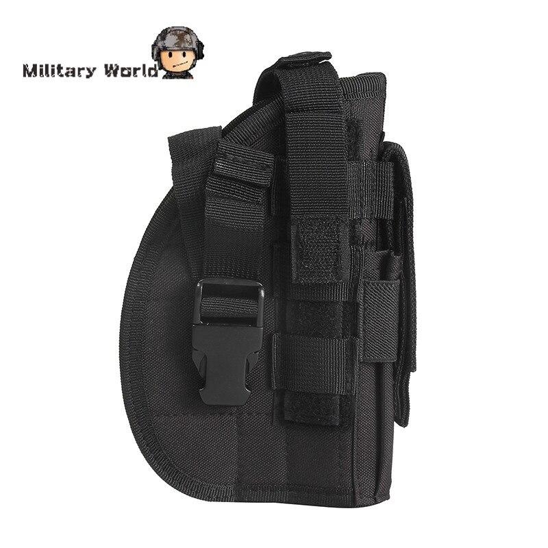 600D Molle Táctico Militar Pistolera de la Pistola para Mano Derecha Pierna Del
