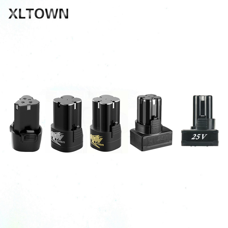 XLTOWN 12/16.8/25V Lithium Battery Electric Screwdriver Special Large Capacity Lithium Battery Hand Drill Battery Accessories