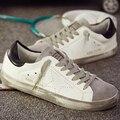 2017 Италия Новый Бренд Дизайнер Золотой Натуральная Кожа Повседневная Мужская Обувь Гуся Все Звезды Спорта Дышать Обувь Zapatillas